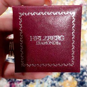 Helzberg Diamond & Ruby silver ring.